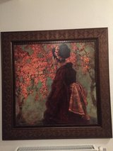 Large Geisha Cherry Blossom painting in Ramstein, Germany