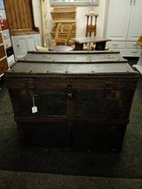 Very large old steamer chest, all original condition in Lakenheath, UK