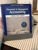 Financial and Managerial Accounting by Warren: USCB ACCT 225 and 226 in Beaufort, South Carolina