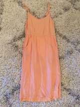 Lovely peach dress w pockets size small in Leesville, Louisiana