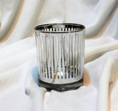 NEW Silver White Candle Holder Tea Light Dining Office Home Decor in Kingwood, Texas