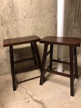 Backless wood bar stools in Plainfield, Illinois