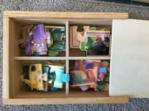 Melissa and Doug jigsaw puzzles - 2 sets, construction trucks and dinosaurs. in Westmont, Illinois