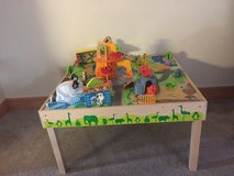 Wooden Zoo play Table in Okinawa, Japan