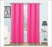 """NEW Eclipse Hot Pink Girl Lined Grommet Energy 42""""x63"""" Curtain Panel Drape Window in Kingwood, Texas"""