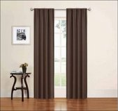"2 NEW Eclipse Phoenix Brown  Darkening Energy 37""x84"" Curtain Panel Drape Window in Kingwood, Texas"