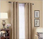 "3 Better Homes & Gardens Diamond Jacquard 84"" Curtain Beige Brown Cream in Kingwood, Texas"