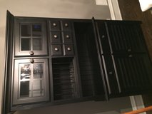 Large black China cabinet in Aurora, Illinois