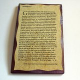 DESIDERATA WALL PLAQUE WOOD INSPIRATIONAL in Glendale Heights, Illinois