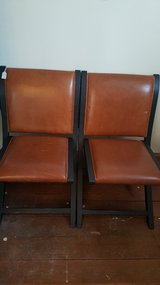 Leather upolstered chairs in Aurora, Illinois