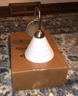 lights- nickel sconce with white shade (12) in Plainfield, Illinois