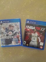 Madden 17 and NBA 2K17 for PS4 in Lawton, Oklahoma