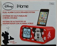 Disney iHome Dual Alarm Clock Speaker System (Brand New) in Camp Lejeune, North Carolina