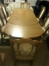 Antique dining Table with 6 chairs in Ramstein, Germany