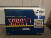 New! Retro Sorry Game Board 1958 edition in Fort Campbell, Kentucky