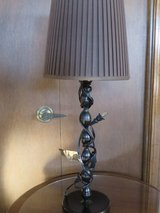 TALL BURNISHED  METAL CANDLESTICK LAMP - EXCELLENT CONDITION! in Glendale Heights, Illinois