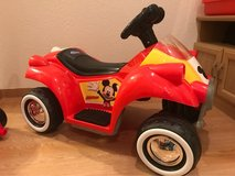 Kid Trax Disney Mickey Mouse Hot Rod Quad 6-Volt Battery-Powered in Okinawa, Japan