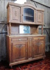 Early 1800s Antique Belgium Buffet with Marble Countertop in Ramstein, Germany