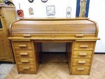 Beautiful solid wood antique Roll Office was made around 1920 in Wiesbaden, GE