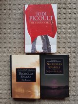 set of 3 books by Jodi Picoult and Nicolas Sparks in Ramstein, Germany