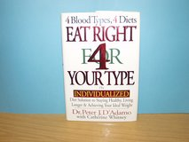 Eat Right 4 Your Type by Dr J.D.Adamo in Ramstein, Germany