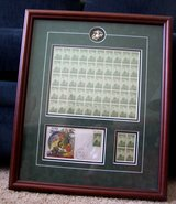 U S Marine Corps Presentation Collage of Iwo Jima stamps in Cherry Point, North Carolina