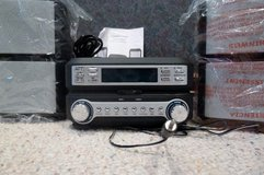 CD PLAYER, FM/AM RADIO, CLOCK in 1, w/2 EXTERNAL SPEAKERS (new in box) in Sugar Land, Texas