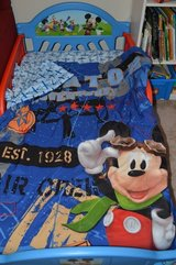 Delta  Mickey Mouse/ Disney Toddler Bed with mattress and sheets, comforters in Camp Lejeune, North Carolina