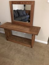 Solid Wood side unit with mirror in Fort Polk, Louisiana