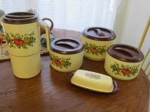 old canister set with butter dish and pitcher in Alamogordo, New Mexico