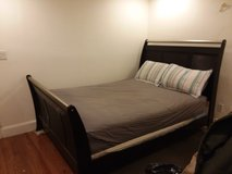 Sleigh Bed w/boxspring in Fort Belvoir, Virginia