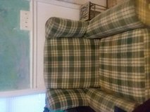 plaid chair green comfy in Beaufort, South Carolina
