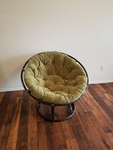 Large Pier1 round chair with cushion in Camp Pendleton, California