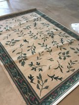 Cream and green rug in Oswego, Illinois