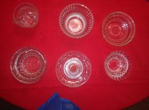 six misc vintage crystal glass pieces in Spring, Texas