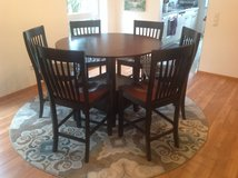 High top dining table with 6 chairs in Ramstein, Germany