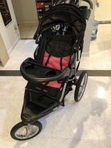 Pink Baby Trend jogger stroller in Okinawa, Japan