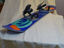 Snowboard 155cm - good design - good condition with bindings in Baumholder, GE