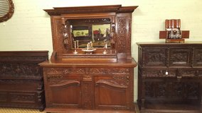 Stunning Carved Sideboard with Knights Free Delivery in Lakenheath, UK