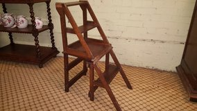 Converting Chair Carved Oak Library Steps Free Delivery in Lakenheath, UK