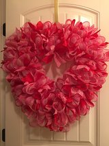 Handmade Valentines Day wreath in Fort Campbell, Kentucky