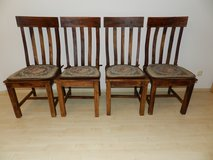 Solid wood chairs - cushions included in Ramstein, Germany