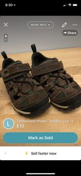 Timberland shoes. Toddler size 11 in Lockport, Illinois