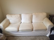 three cushion white couch in Fort Polk, Louisiana