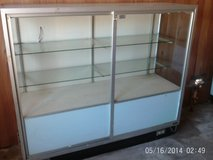 VERY NICE display case /Glass and glass shelves all good Great for Business in Camp Lejeune, North Carolina
