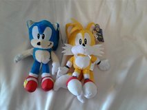 NWT Sonic and Tails Plush Dolls in Joliet, Illinois