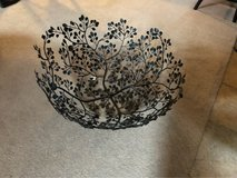 large crate & barrel metal bowl in Oswego, Illinois