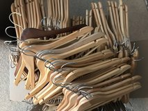 Wooden hangers  (130+) in 29 Palms, California