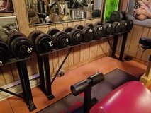 Steel Weight Set and Rack - 55lb, 60lb, 65lb, 70lb and 75lb Pairs in New Lenox, Illinois