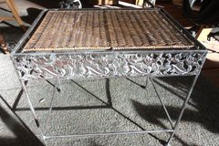 Small Metal and Wicker Table in Alamogordo, New Mexico